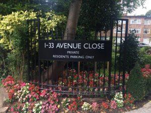 Avenue close railing 1