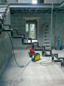 Bespoke Staircase in construction